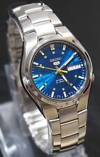 SNK615 Stainless Steel Band Automatic Men's Blue Watch SNK615K1 SEIKO 5 New !!