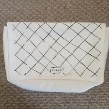 CHANEL White Dust Bag Lagerfeld Special Edition for MEDIUM classic Flap.