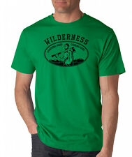 WILDERNESS CHOPPING WOOD LOOKING GOOD T-Shirt funny outdoor lumberjack beard