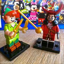 LEGO 71012 Minifigures DISNEY SERIES PETER PAN #15 & CAPTAIN HOOK #16 SEALED Set