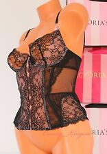 NWT VICTORIA'S SECRET DESIGNER COLLECTION Lingerie LACE CORSET BUSTIER 36C BLACK