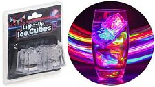 Set of 2 Light Up Plastic Drinking Ice Cubes LED Lights Fun Party Bar Accessory