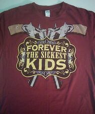 2009 Forever The Sickest Kids Bamboozle Roadshow Tour T-Shirt Red Adult Small