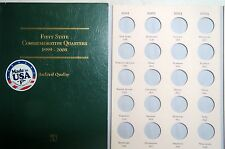 1999-2008  STATE QUARTERS  4-PAGE  COIN  FOLDER  from LITTLETON, With No Coins