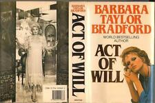 SIGNED 1st ED ACT OF WILL by BARBARA TAYLOR BRADFORD HCDJ VERY GOOD CONDITION