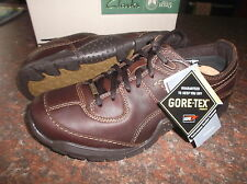 New Clarks Men ** ROCK WALK GTX ** DARK BROWN LEATHER **  UK 8 / 7.5
