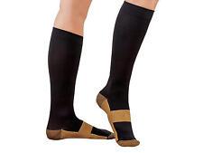 3 Pair Lg/XL Black Compression Copper Socks Support 20-30 mmHg Graduated Sock