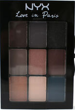 NYX Eyeshadow Palette LIP11 YOU ARE IN SEINE Love in Paris Brown Tan Blue Grey