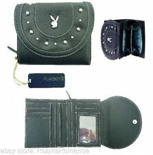 Playboy Large Womens Black Purse Wallet for Coins, Notes and Store Cards Gift