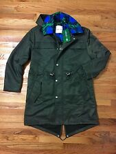 Kenzo H&M mens parka Large L army green AND lucite hanger (LAST ONE AVAILABLE)
