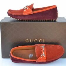 GUCCI New sz 7.5 G - US 8 Authentic Designer Mens Drivers Loafers Shoes