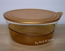Tupperware  Eleganzia Sheerly Elegant Deluxe Acrylic Bowl 2.3 L Gold Color  New