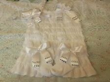 NEW ROMANY BLING BABY GIRLS FRILLY ROMPER SET 6-9 MONTHS