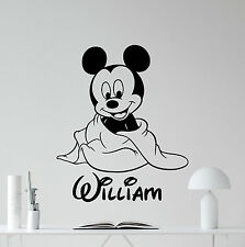 Personalized Mickey Mouse Wall Decal Custom Name Vinyl Sticker Art Decor 105crt