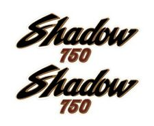 HONDA 1983 1985 VT750 SHADOW 750 RED MODEL SIDE COVER DECALS GRAPHICS ON CLEAR
