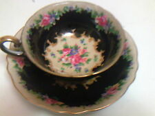 Vintage Chugai black tea cup and saucer Occupied Japan