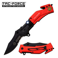 "8.25"" TAC FORCE TATICAL SPRING ASSISTED FOLDING KNIFE Blade pocket open switch"