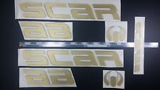 "SCARAB boat Emblem 25"" Gold Epoxy Stickers Resistant to mechanical shocks"
