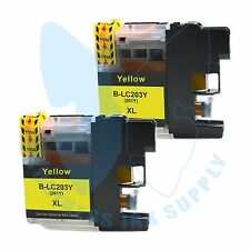 2 Yellow New LC 203XL Ink Cartridges For Brother J4620DW J480DW J5720DW J885DW