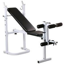 Adjustable Weight Lift Flat Incline Folding Bench Fitness Body Strength Workout