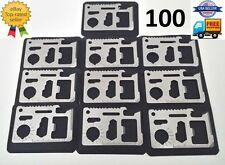 100 Bulk Lot 11 in 1 Multi Tool Card wallet pocket survival credit card knife