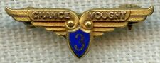 Rare 1930's - 1940's Chance Vought Aviation Corp. 3 Year Service Pin by Balfour