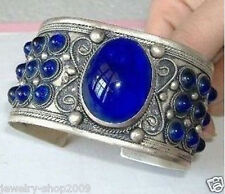 Jewelry Carved Tribal Blue JADE Tibet Bangles Bracelets