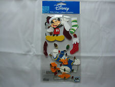 "EK Success Disney ""Mickey & Donald With Stockings  & Lights""- 7 pcs Stickers"