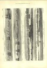 1882 vista panorámica Alejandría Fort Earthworks Palacio de barcos