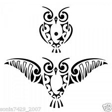 Hoot Owl Window Vinyl Decal Sticker Car Truck Tribal Funny Diesel Car (2) Owls