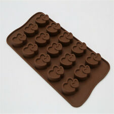 15 Cups Lover Heart Shape Chocolate Silicone Molds Cake Cookie Baking Mould