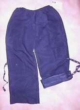 NWT Sueded supplex cargo style Hiphop Dance Pants Loose fit Black Adult Small