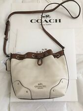 New Coach F37682 Baby Mickie Drawstring Shoulder Bag  Leather W/ Coach Box & Bag