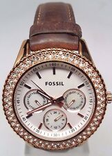 Fossil Stella GMT Rose Gold tone Stainless Steel Ladies Watch ES3104