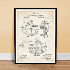 SEXTANT INVENTION 1870 US PATENT ART POSTER PRINT 18X24 HOLZACH NAVIGATION NA...