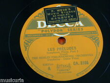 "78rpm 2x12"" BERLIN PHIL - OSKAR  FRIED liszt les preludes CA 8166 & 7"