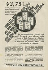 W0284 VACUUM OIL COMPANY - Pubblicità 1927 - Advertising