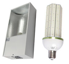 Low Bay Fitting with 120w LED Corn Light 13000 Lumen Replaces 400w SON / MH