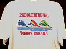 NEW TOMMY BAHAMA PaddleBirding Paddle Birding Birds Paddle Board T-SHIRT Men's L