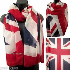 Large British Flag Scarf Souvenir London English Ladies Celebrity Union Jack UK