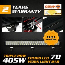 405W OSRAM 26INCH LED Combo Work Light Bar Flood/Spot SUV PICKUP JEEP Triple Row