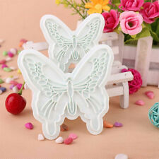 Beautiful Butterfly Fondant Decorating Sugarcraft Cookie Plunger Cutters Mold