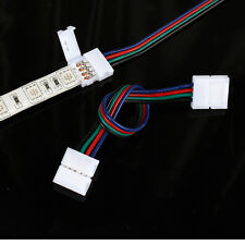 10X 4pin extention cable 15cm for 5050 led rgb strip light 10mm pcb fast connect