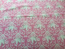 RPA316 Unicorn Horses Damask Pink Princess Cotton Fabric Quilt Fabric