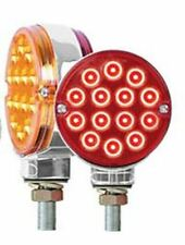 "LED light 3"" Pearl Double Face Amber/Red 14 diodes red/amber Peterbilt Kenworth"