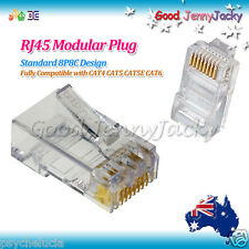 30 x AMP Gold-plated RJ45 CAT6 CAT5 CAT5E Modular Plugs Network Connector 8P8C