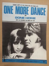 song sheet ONE MORE DANCE , GONE HOME Ester + Abi Ofarim 1968