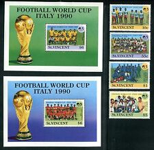 St.Vincent 1236-1241, MNH, World Cup Soccer Championships Italy 1989, x11639