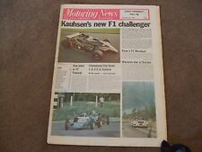 Motoring News 9 November 1978 Tour of Corsica & Wyedean Rally Kauhsen F1 WK1