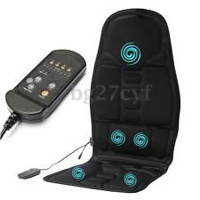 Heated Back Massage Chair Car Home Seat Cushion Massager Neck Pain Pads Heater
